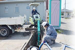 舗装切断工事