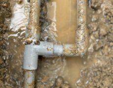 焼津市 屋外水道管漏水修理